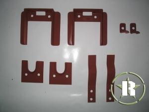 Conjunto ferragem de fixação banco traseiro (escamoteável)