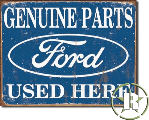 Placa Ford Genuine Parts americana - 40cm x 30cm - selo holográfico made USA