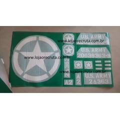 Mascara para pintura em jeeps (Cruzeiro do sul, estrela da invasão)