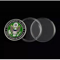 Moeda Medalha Departament Of State Jeep Militar Caveira