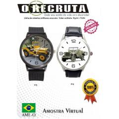 Relógio de pulso personalizado com viaturas